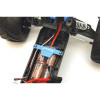 ST Racing Concepts Battery Hold-Down Plate - Rustler/Bandit (Blue), ST3727AB
