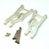 ST Racing Heavy Duty Aluminum Front A-Arm Set with Steel Lock-Nut Hinge-Pins - Silver, 3631XS