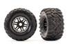 Traxxas Maxx All-Terrain Tires on Black Wheels for Maxx 4S Truck, 8972