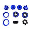 Hot Racing Aluminum 24mm Hex Hub Wheels Lock Set for Traxxas X-Maxx
