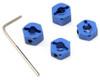 ST Racing Concepts 12mm Lock-Pin Style Aluminum Wheel Hex (Blue) for Stampede/Rustler/Bandit/Slash, 3654-12B