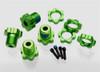 Traxxas Wheel Hubs & Nuts Splined 17mm (green-anodized), 5353G