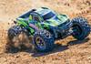 Traxxas Hoss 4X4 VXL 1/10 Brushless Monster Truck with TSM - Green, 90076-4