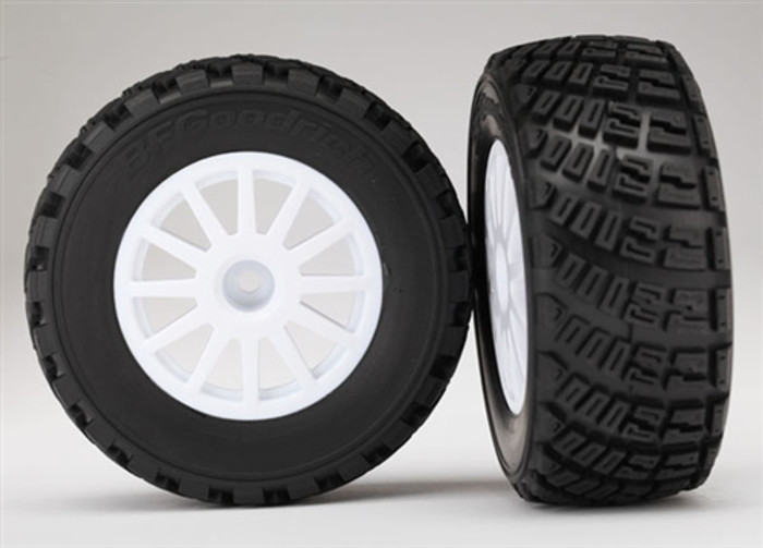Traxxas BFGoodrich Tires and White Wheels Assembled for Rally 10th Car, 7473