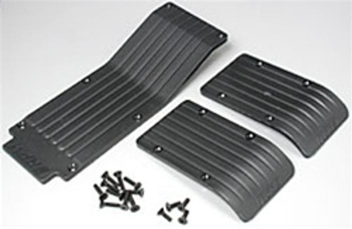RPM Three Piece Skid/Wear Plate Set for the Traxxas T/E-Maxx - Black, 80112