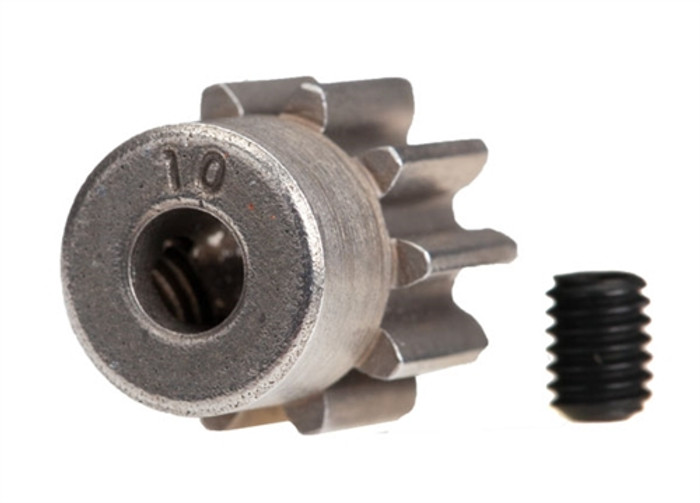 Traxxas 10-T Steel Pinion Gear for Rustler 4X4 and TRX-4, 6746