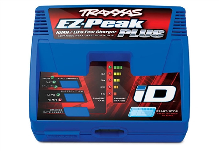 Traxxas EZ-Peak Plus 4-Amp NiMH/LiPo Charger with iD Battery Identification (2970)