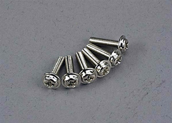 Traxxas Washerhead Machine Screws 3x12mm, 3186