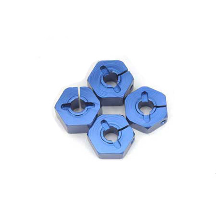 ST Racing Concepts 14mm Clamp Style Aluminum Wheel Hex (Blue), 3654-14B