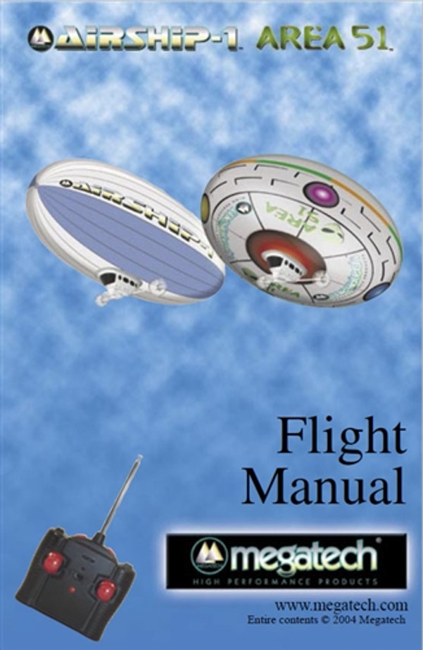Megatech Airship 1/Area 51 Blimp User Manual Download