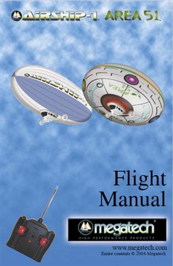 Megatech Airship 1/Area 51 Blimp User Manual Download