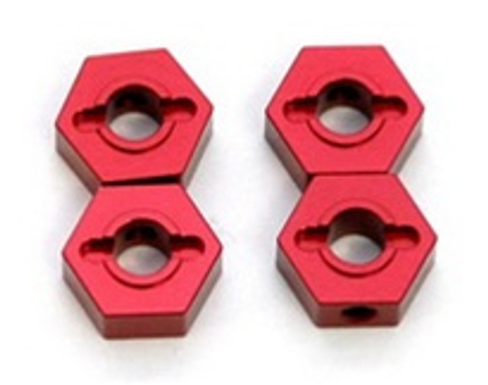 ST RACING CNC Machined Aluminum 12mm Hex Adapters Slash/Stampede 4x4 (Red), 1654R