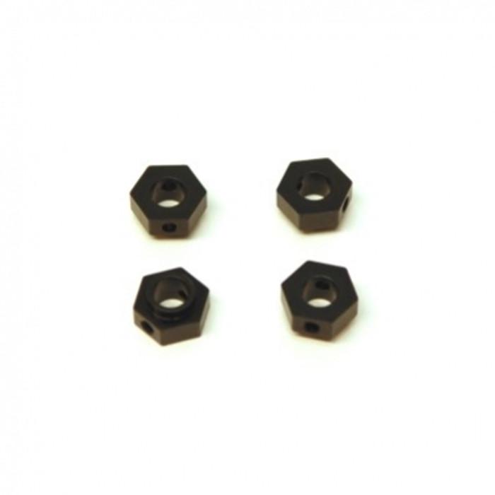 ST RACING Aluminum Hex Adapters for TRX-4 (Black), 8269BK