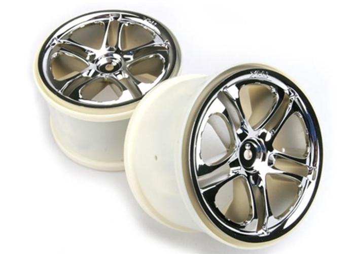 "Traxxas Wheels Split Spoke 3.8"" Chrome (fits Revo/Maxx series), 5172X"