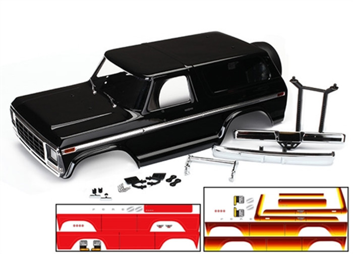 Traxxas Complete Painted Ford Bronco Body for the TRX-4, 8010X