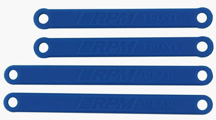 RPM Heavy-Duty Camber Links for Traxxas Electric Rustler and Stampede - Blue, 81265