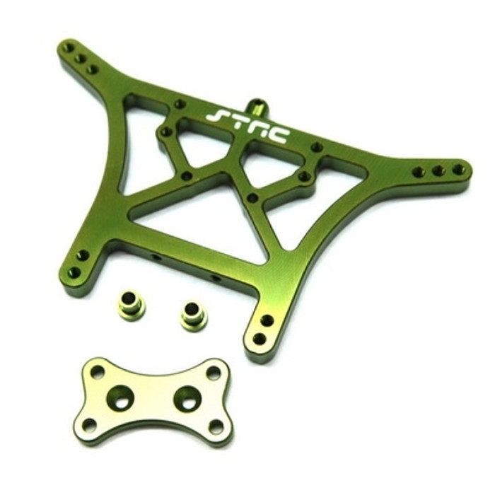 ST RACING CNC Machined Aluminum 6mm HD Rear Shock Tower (Green)