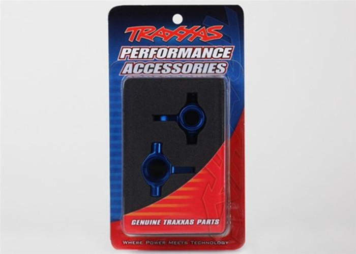 Traxxas Steering Blocks 6061-T6 Aluminum Blue Left and Right - XO-1, 6439