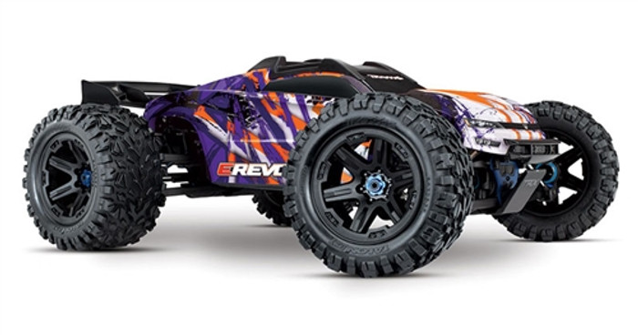 Traxxas E-Revo 2.0 Brushless Next Gen Monster Truck - Purple, 86086-4