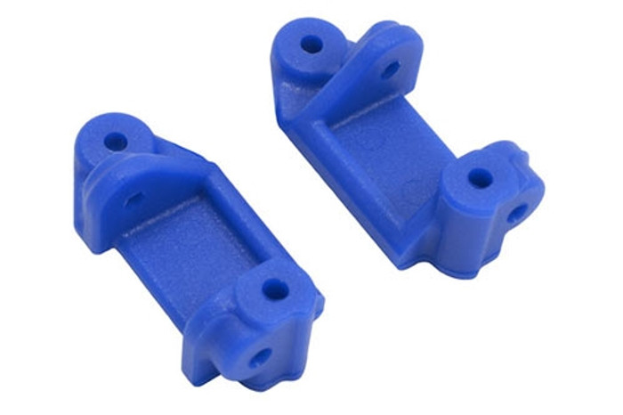 RPM Caster Blocks for Traxxas Electric Rustler/Stampede/Bandit/Slash 2WD - Blue, 80715