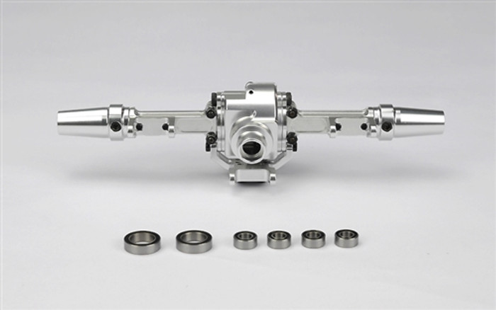 Carisma CNC Aluminum Rear Axle w/Ball Bearings - Fits All SCA-1E, 15890