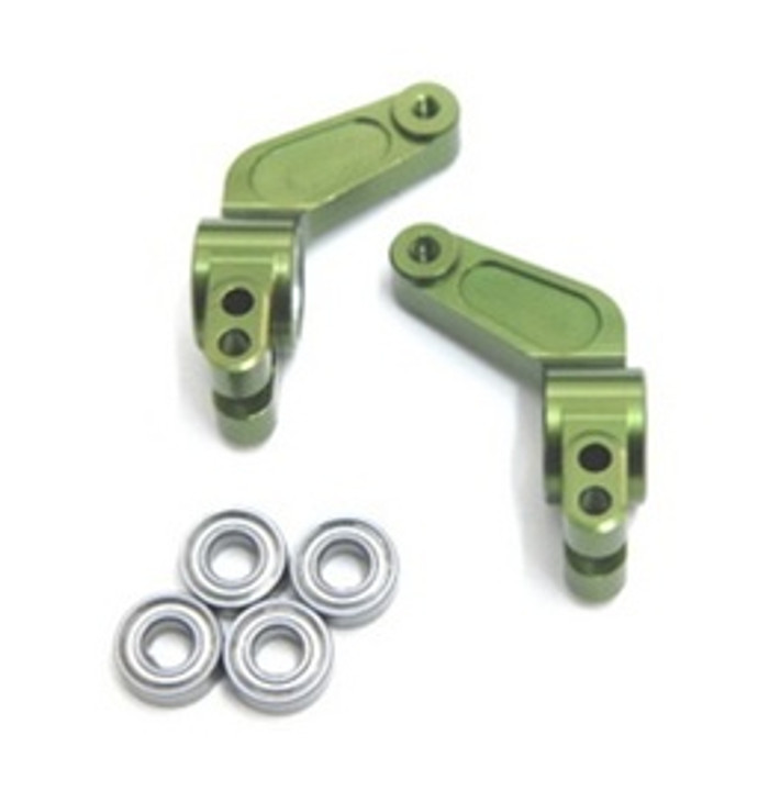 ST RACING CNC Machined Aluminum Oversized Rear Hub Carrier (Green), 3652G