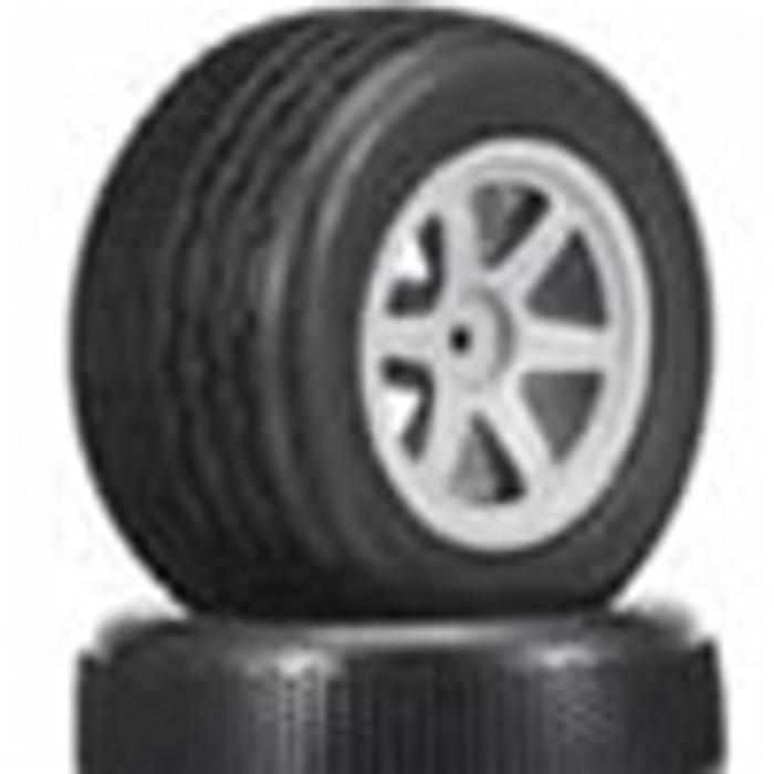 Megatech Megapro Ribbed Tires w/Rims (4)