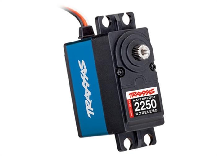 Traxxas High-Torque 330 Blue Waterproof MG Servo, 2250