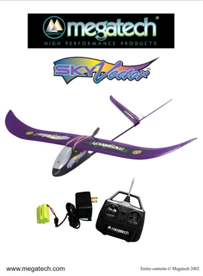 Megatech Sky Vector Airplane User Manual Download