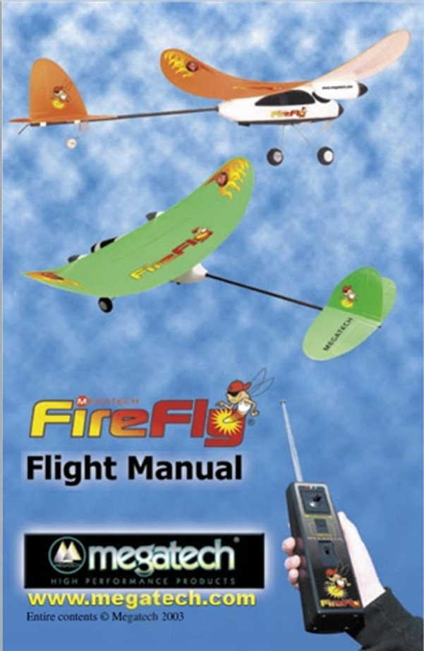 Megatech FireFly Airplane User Manual Download