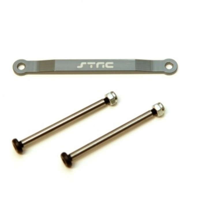 ST Racing Concepts Aluminum Hinge-Pin Brace Kit (Gun Metal), 2532XGM