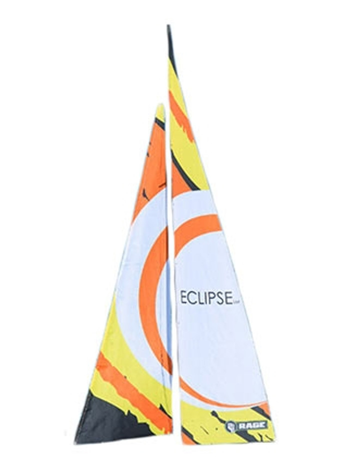 Rage Eclipse Sailboat Printed Sail with Dyneema Cord, B1307