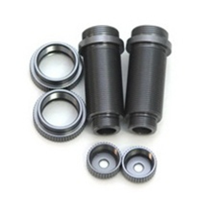 ST RACING CNC Machined Aluminum Threaded Front Shock Bodies for Slash 4x4 and others (Gun Metal), 3765XGM