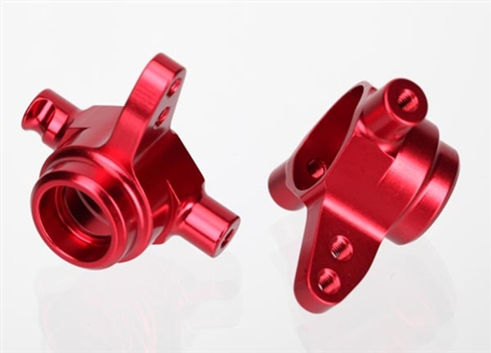Traxxas Red Aluminum Steering Blocks Left & Right Slash 4x4, 6837R