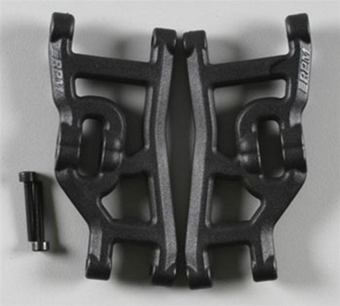 RPM Front A-Arms for Traxxas Nitro Rustler/Nitro Stampede/Nitro Sport/Bandit - Black, 80492