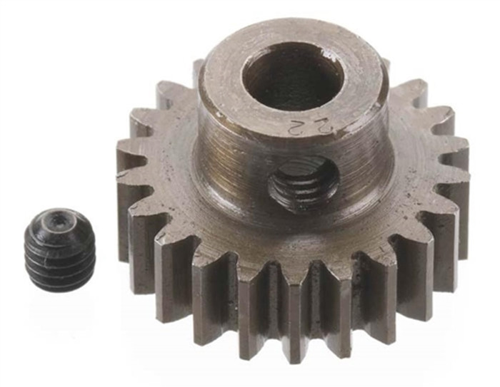 Robinson Racing 22T Extra Hard 5mm Brushless Motor Pinion Gear, 8722