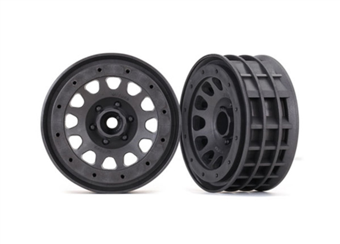 "Traxxas Method 105 2.2"" Charcoal Gray Beadlock Wheels for TRX-4, 8171A"