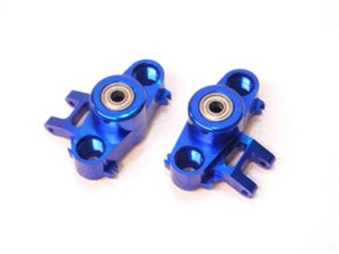 ST Racing Concepts CNC Machined Aluminum HD Steering Knuckles w/larger 6x15 bearings (Blue), 5334B