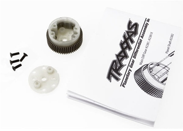 Traxxas Main Diff w/Steel Ring Gear, 2381X