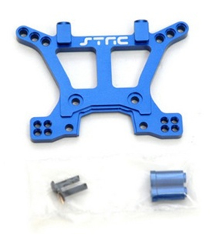 ST RACING CNC Machined Aluminum HD Front Shock Tower Slash/Stampede 4x4 (Blue), 6839B