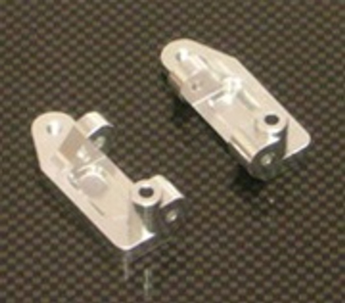 ST RACING CNC Machined Aluminum Caster Blocks (Silver), 3632S