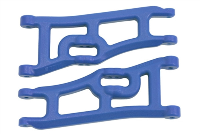RPM Wide Front A-Arms for Traxxas Electric Rustler/Electric Stampede 2WD - Blue, 70665