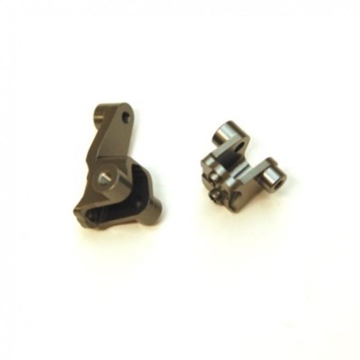 ST RACING Aluminum Front Lower Shock Mounts for TRX-4 (Gun Metal), 8227FGM
