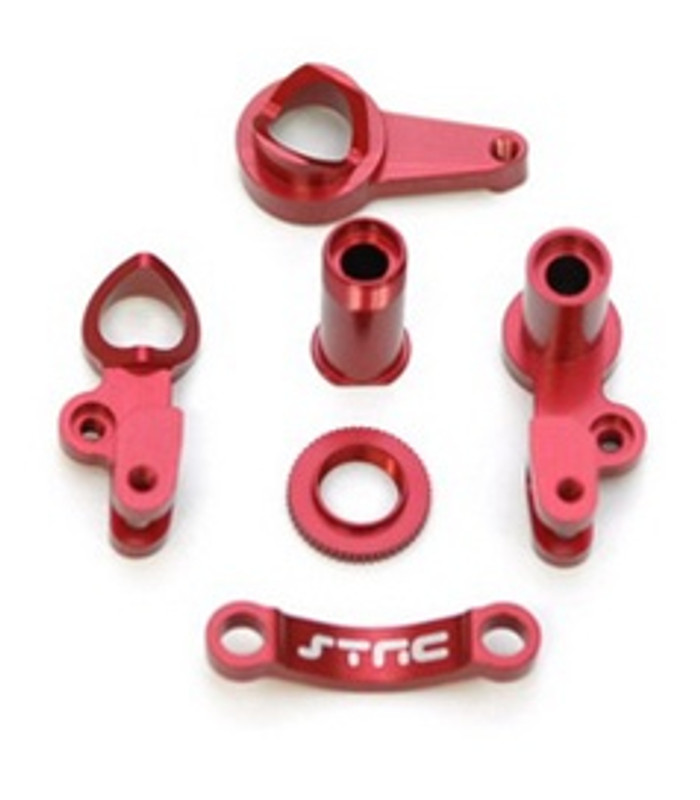 ST RACING CNC Machined Aluminum Steering Bellcranks Slash/Stampede 4x4 (Red), 6845R