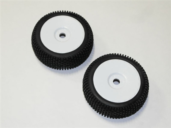 DHK Tires on White Rims for Optimus 4S Electric Models (2pcs), 8381-722
