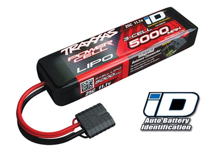 Traxxas 5000mAh 11.1V 25C Power Cell LiPo Battery w/iD Connector, 2872X