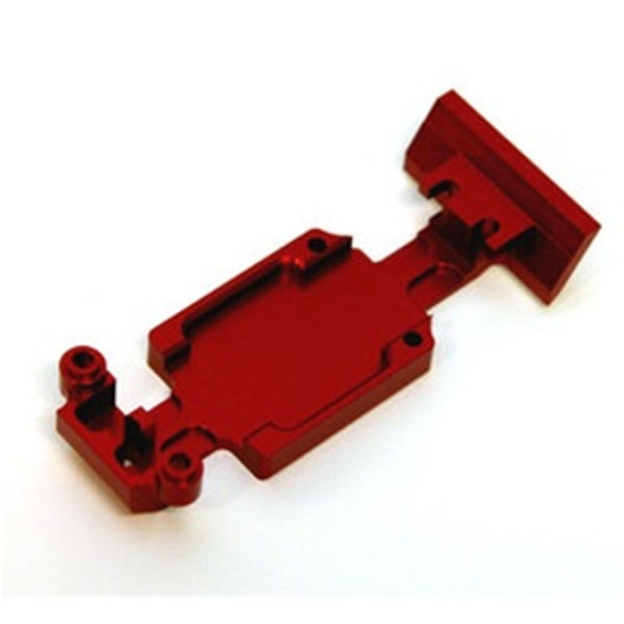 ST Racing Concepts Aluminum Heavy Duty Rear Skid Plate Set (Red), 5337RR