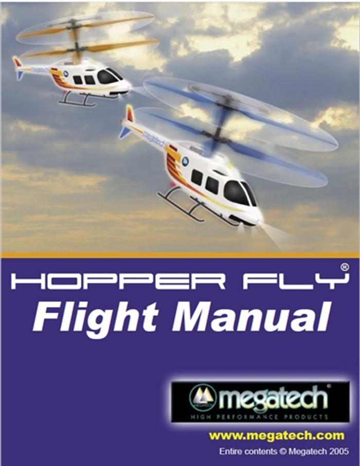 Megatech Hopper Fly Helicopter User Manual Download