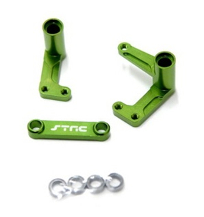 ST Racing Concepts Aluminum Steering Bellcrank Set with Bearings for Slash/Rustler/Bandit (Green), 3743XG