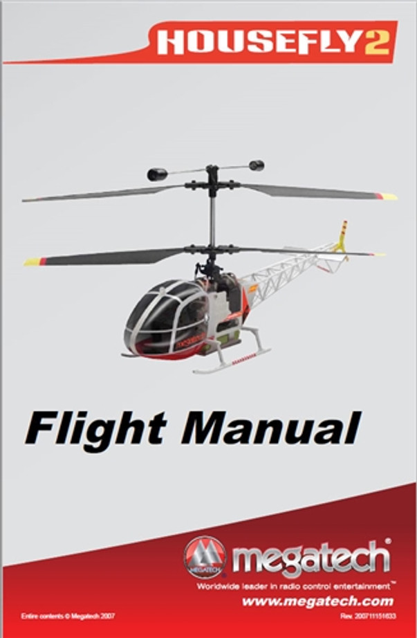 Megatech House-Fly 2 Helicopter User Manual Download
